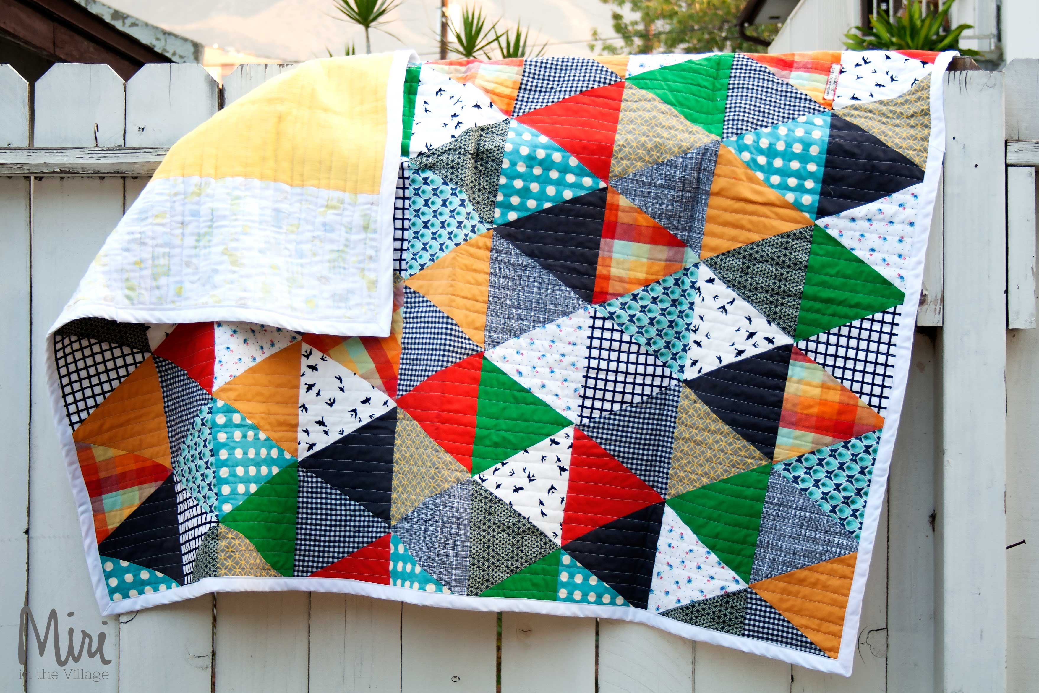 Patchwork Quilt Tutorial - Miri in the Village