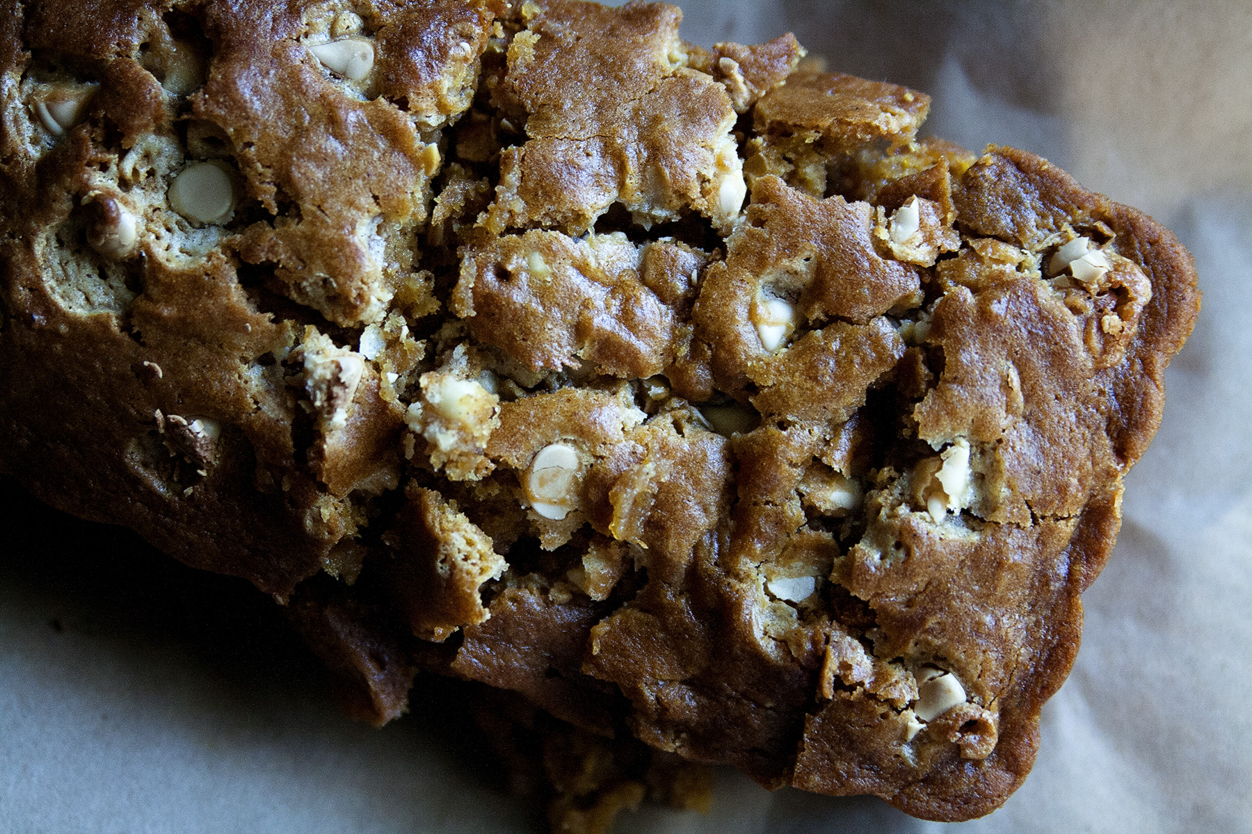 White Chocolate Chip Pumpkin Bread