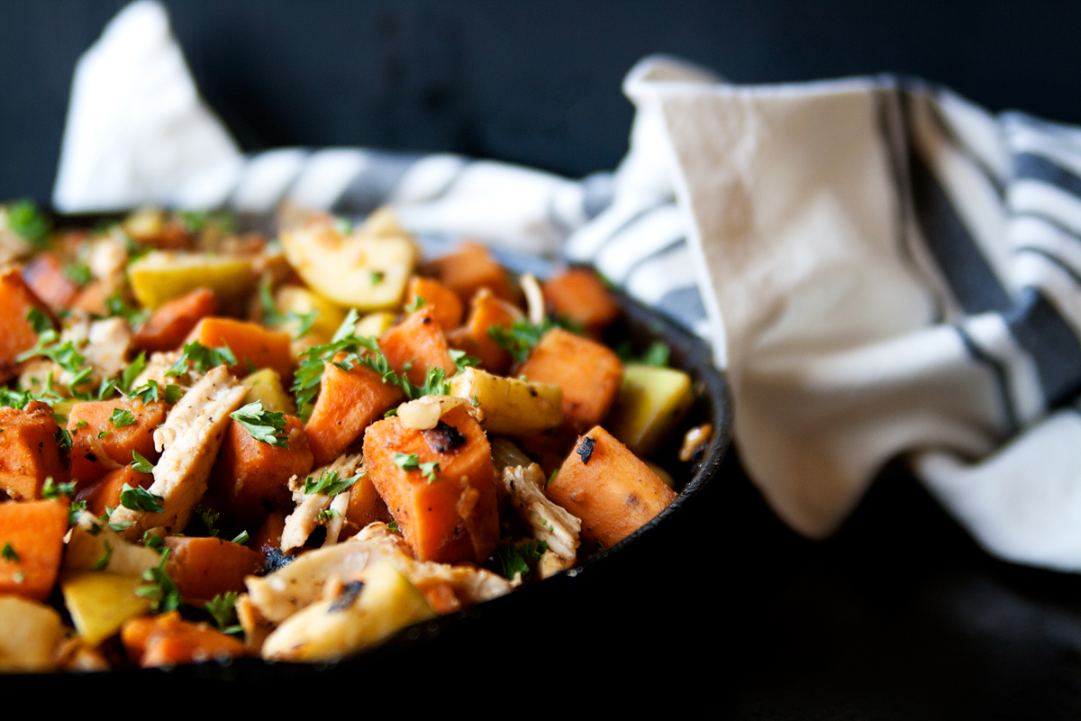 Sweet Potato and Carmelized Onion Skillet Meal